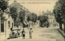 N°1817 RRR DID4  CAEN LA RUE DE BAYEUX PRES DE L ECOLE SUPERIEURE - Caen