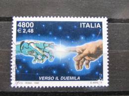 *ITALIA* USATO 1999 - AVVENTO ANNO 2000 - SASSONE 2442 - LUSSO/FIOR DI STAMPA - 1991-00: Used