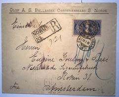 Norway NK UNRECORDED Registered Cover CHRISTIANSSAND 1901 > Netherlands (Norvége Lettre Amsterdam Brief Norwegen - Briefe U. Dokumente