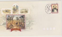 Australia 2001 Gold Prepaid Envelope FDC - FDC