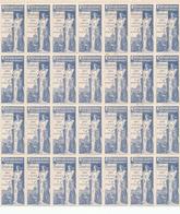 712/28 - VIGNETTES EXPO BRUXELLES TERVUEREN 1897 - TB Bloc De 7 X 4 = 28 Exemplaires BLEUS - 1ère Fois Vu. - Erinnophilie