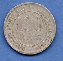 Brésil  -  100 Reis 1871  --  Km # 477  -  état  TB+ - Brazil
