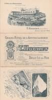 Depliant Publicitaire  Grand Hotel De L'apothicairerie Huchet Tbe - Belle Ile En Mer
