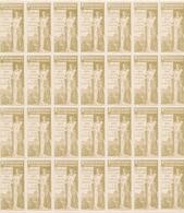 713/28 - VIGNETTES EXPO BRUXELLES TERVUEREN 1897 - TB Bloc De 7 X 4 = 28 Exemplaires OLIVES - 1ère Fois Vu. - Erinnofilia