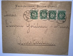 Norway NK UNRECORDED Cover BERGEN 1901 > Netherlands (Norvége Lettre Amsterdam Brief Norwegen - Briefe U. Dokumente