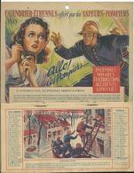 CALENDRIER ETRENNES Offert Par Les SAPEURS POMPIERS - 1949 - Calendriers