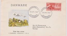 Denmark 1960 Harvester 30 Ore Red  FDC - FDC
