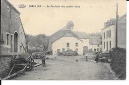 """Chatillon """"Arlon"""" - La Poulaine Des Quatre Lions - V.P.F. - Phot: Préaux - Circulé: 1911 - Voir 2 Scans. - Saint-Léger"""