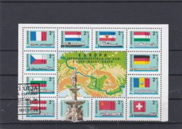Hungary 1977 Flags On Stamps Part Sheet Used (H29) - Stamps