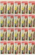 716/28 - VIGNETTES EXPO BRUXELLES TERVUEREN 1897 - TB Bloc De 5 X 4 = 20 Exemplaires Polychromes - 1ère Fois Vu. - Erinnofilia