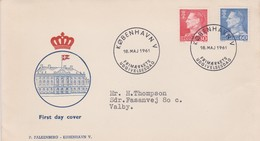 Denmark 1961 King 30 Ore And 60 Ore  FDC - FDC