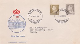 Denmark 1961 King 40 And 90  Ore FDC - FDC