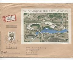 2888/ BRD Einschreiben BL Olympische Spiele 1972 München +BM C.Bonn N.Belgien Brüssel Via Antwerpen - Briefe U. Dokumente