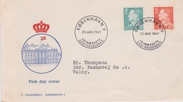 Denmark 1961 King 50 Ore And 80 Ore  FDC - FDC
