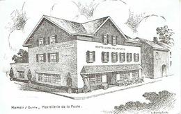 CPSM  HAMOIR-sur-OURTHE : Hostellerie De La Poste - Dessin - Hamoir