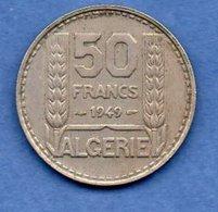 Algérie -  50 Francs  1949  -  Km # 92  -  état  TTB - Algérie