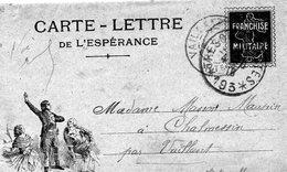 """CP De L'Espérance - """" Aux Armes,Citoyens""""'-   Simili Timbre- Semeuse-- - Marcophilie (Lettres)"""
