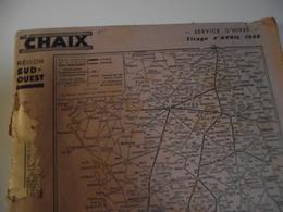 CHAIX, Livret, Région Sud Ouest , Tirage Avril 1944 - Europe