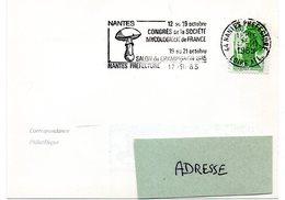 LOIRE ATLANTIQUE - Dépt N° 44 = NANTES PREFECTURE 1985 = FLAMME SECAP  Illustrée  'SALON Du CHAMPIGNON / CONGRES ' - Marcophilie (Lettres)