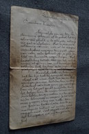 Ancien Document Manuscrit D'un Poilu,guerre 14-18 ,daté De 1914 Du Camp De Léopoldsburg ,original - 1914-18