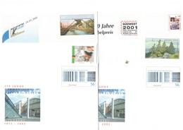 2001/2002, BUND Ungebrauchte Ganzschenumschläge (31) Und -karten (8) - Nominale/face Value 21,44 Euro - Briefmarken
