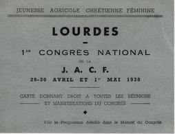 RURALITE  CARTE CONGRES NATIONAL JEUNESSE AGRICOLE CHRETIENNE FEMININE J.A.C.F. 1938 - France