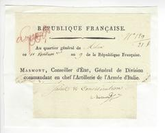 Maréchal Empire Auguste-Frédéric-Louis Viesse De Marmont (1774-1852) 1800 AUTOGRAPHE ORIGINAL AUTOGRAPH /FREE SHIP. R - Autographes