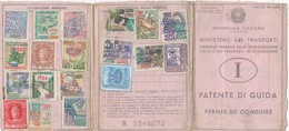 PATENTE DI GUIDA  / MARCHE DA BOLLO PER PATENTE DI GUIDA SU DOCUMENTO DATATO 1970 - Fiscali