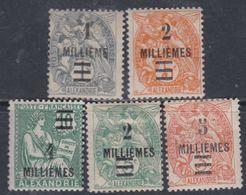 Alexandrie N° 64 / 67 X  Partie De Série : Les 5 Valeurs  Trace De Charnière Sinon TB - Unused Stamps