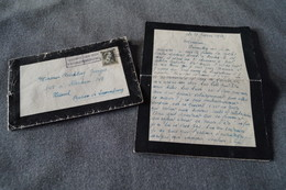 Ancien Document Manuscrit D'une épouse De Soldat Tué Au Combat,André Lismont 1941,original - 1939-45