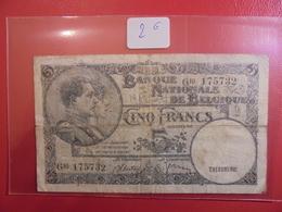 BELGIQUE 5 FRANCS 1938 CIRCULER - [ 2] 1831-... : Belgian Kingdom