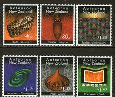 NEW ZEALAND, 1996 MAORI CRAFT  6 MNH - New Zealand