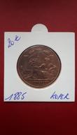 Medaille 1885 Expo D'Anvers In Koper - Belgique
