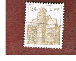 IRLANDA (IRELAND) -  SG 544a   -    1985 IRISH ARCHITECTURE: CASHEL ROCK   -     USED - 1949-... Repubblica D'Irlanda