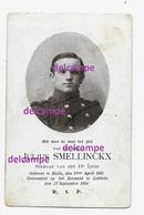 OORLOG GUERRE Julius Smellinckx Halle Soldaat Gesneuveld Te Lebbeke September 1914 Bidprentje Doodsprentje - Images Religieuses