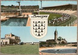87 / LIMOGES - Piscine, Stade, Aéroport Et Gare + Blason (multivues Années 50) - Limoges