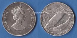 1998 SAINT HELENA  50p. WWF CONSERVATION BLUE WHALES BALEINES  VERY SPLENDID SUPERB SPL - Santa Helena