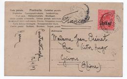 1907 - CP De CONSTANTINOPLE Avec TP ONE PENNY SURCHARGE LEVANT - Lettres & Documents
