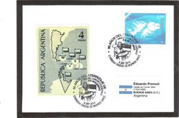 """E48 - ARGENTINE POLAIRE 2941 Oblitération """" 50 ANOS DEL ATERRIZAJE DE Miguel Lawler Fitzgerald En Malvinas. - Argentine"""