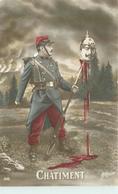 CHATIMENT - Guillaume II Au Bout D'une Baillonnette, Carte Patriotique. - Patriotiques