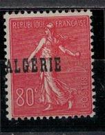 ALGERIE        N° YVERT  :  27  ( Surchage Décalée )           NEUF SANS  CHARNIERES        (NSCH 1/21 ) - Algérie (1924-1962)