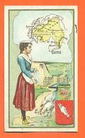 """CHROMO Département De La Savoie """" Miel - Poules """" Blason - Fermière - Cromo"""