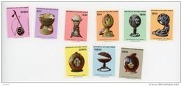 Cap Vert-Cabo Verde-1977-Artisanat Oeuvres En Noix De Coco-YT 384/92***MNH - Cap Vert