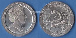 2001  ISLE OF MAN  1 CROWN YEAR OF THE SNAKE  TRISKEL PROOF VERY SPLENDID SUPERB SPL - Isle Of Man