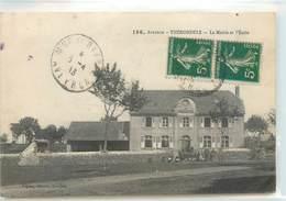 CPA 12 Aveyron Thérondels La Mairie Et L'Ecole (diverses Petites Taches) - Autres Communes