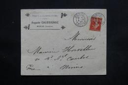 FRANCE - Enveloppe Commerciale De Mende Pour Nîmes En 1907 , Affranchissement Semeuse - L 24321 - 1877-1920: Période Semi Moderne