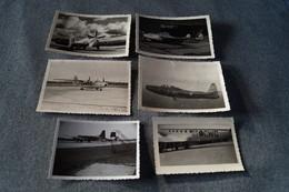 Lot De 6 Photos D'avions ,photos Originales Pour Collection - Aviation
