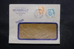FRANCE - Type Gandons Perforés Sur Enveloppe Commerciale De Vaucouleurs En 1949 - L 24323 - Perfins