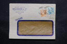 FRANCE - Type Gandons Perforés Sur Enveloppe Commerciale De Vaucouleurs En 1949 - L 24324 - Perforés
