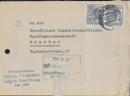 GERMANY -  A.A.S. - FRONTESPIZIO DA TELGTE (KR. MUNSTER) 28.19.1947 - COPPIA 12 PF. - Zone AAS